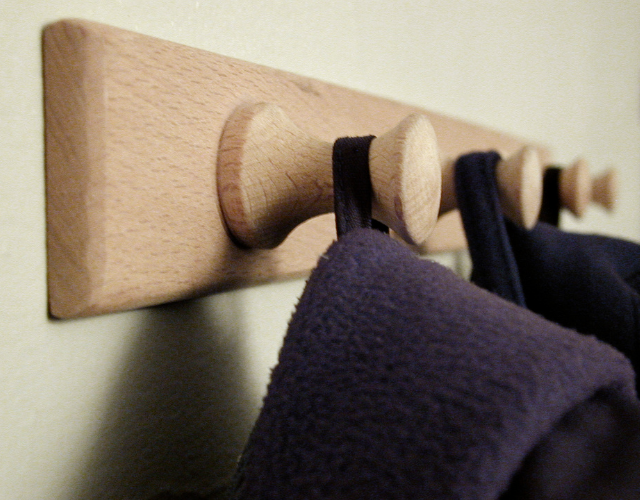 visually engineer your home in 5 easy steps by hanging bookbags to show where they go