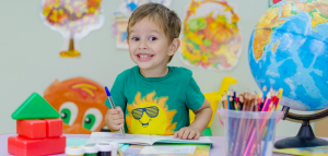 a happy kid that loves the few little extra items for back-to-school